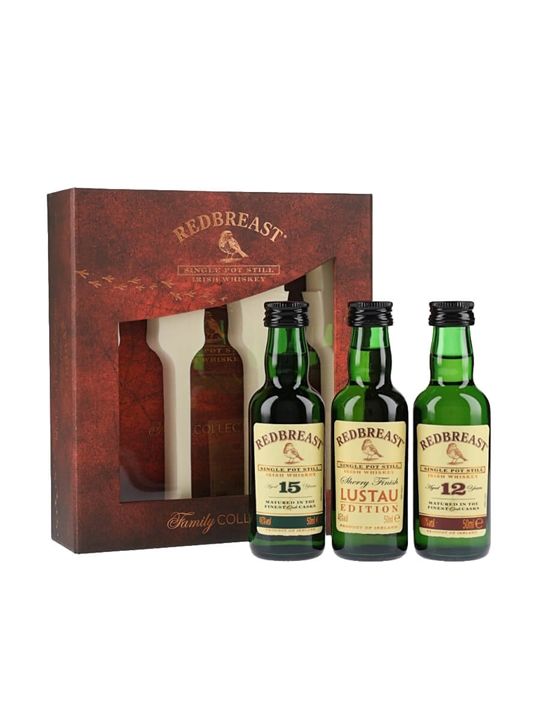 Redbreast Miniature Collection / 3x5cl Single Pot Still Irish Whiskey
