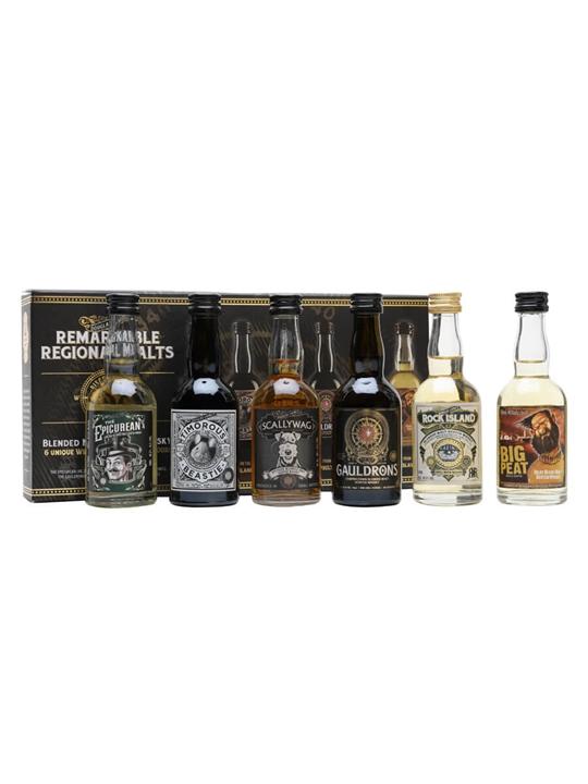 Douglas Laing Remarkable Regional Malts Mini Pack / 6x5cl Blended Whisky