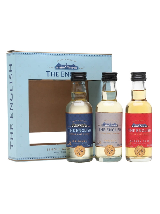 The English Original, Smokey,Sherry Cask Miniature Gift Pack English Whisky