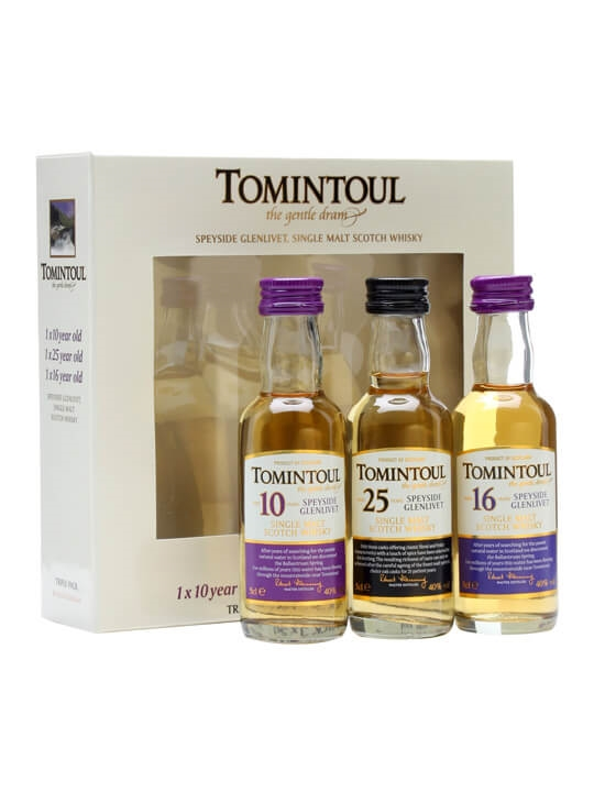 Tomintoul Triple-pack 10 Yrs, 16 Yrs & 25 Yrs / 3x5cl Speyside Whisky