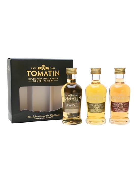Tomatin Miniature 3-pk / 12 Year Old, Legacy, 14 Year Old Highland Whisky
