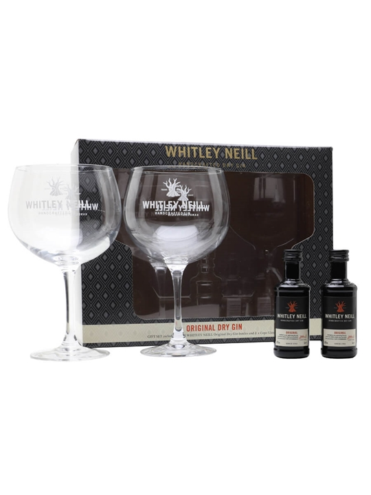 Whitley Neill Small Batch Gin Mini / 2 Glass Gift Set