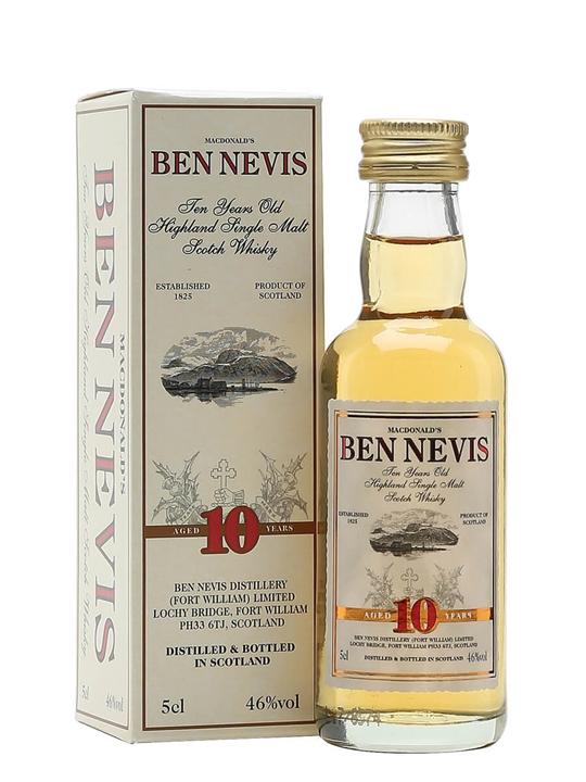 Ben Nevis 10 Year Old / Miniature Highland Single Malt Scotch Whisky