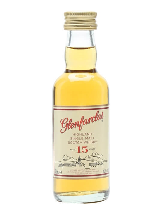Glenfarclas 15 Year Old / Miniature Speyside Single Malt Scotch Whisky