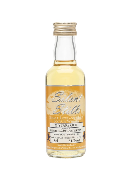 Linlithgow 1975 Miniature / 22 Year Old / Silent Stills Lowland Whisky