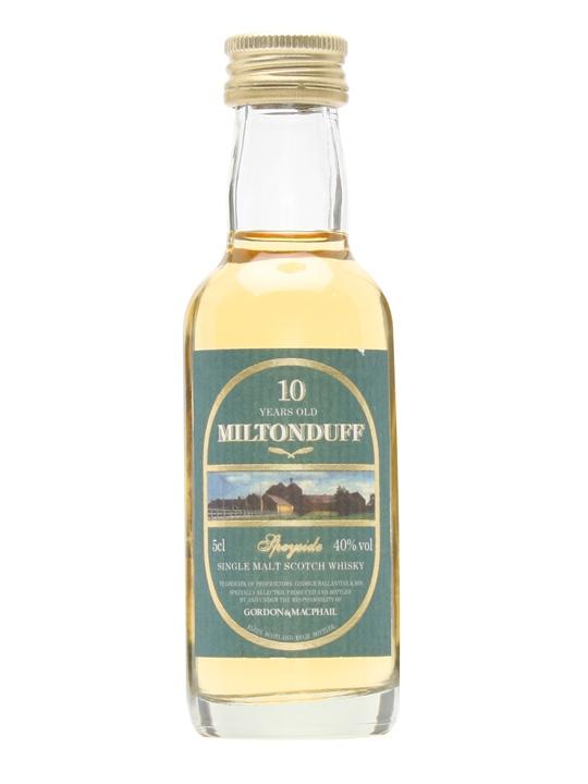 Miltonduff 10 Year Old Miniature / Gordon & Macphail Speyside Whisky