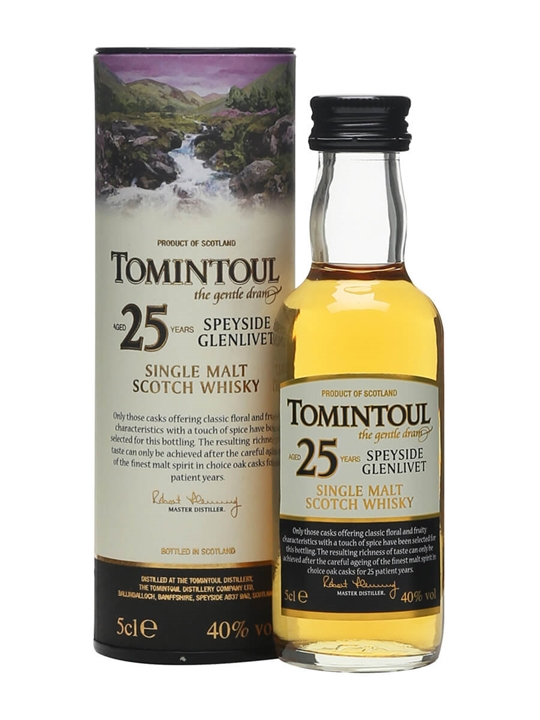 Tomintoul 25 Year Old Miniature Speyside Single Malt Scotch Whisky