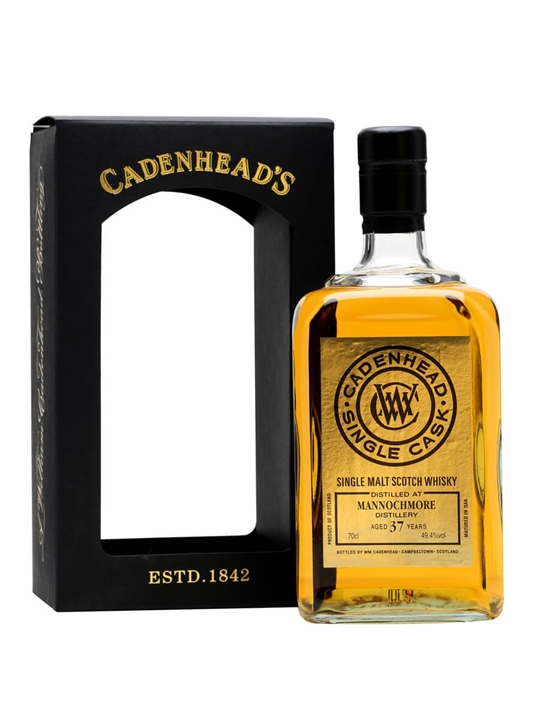 Mannochmore 37 Year Old / Cadenhead's / 70cl Speyside Whisky