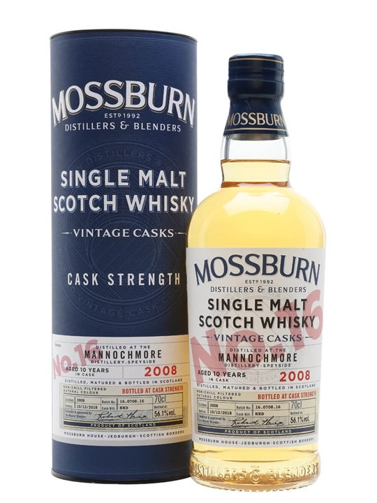 Mannochmore 2008 / 10 Year Old / Vintage Casks #16 /mossburn Speyside Whisky