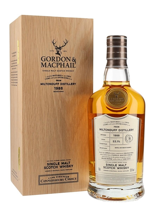 Miltonduff 1988 / 30 Year Old / Connoisseurs Choice Speyside Whisky
