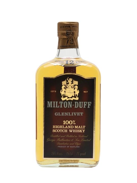 Miltonduff-Glenlivet 12 Year Old / Bot.1970s Speyside Whisky