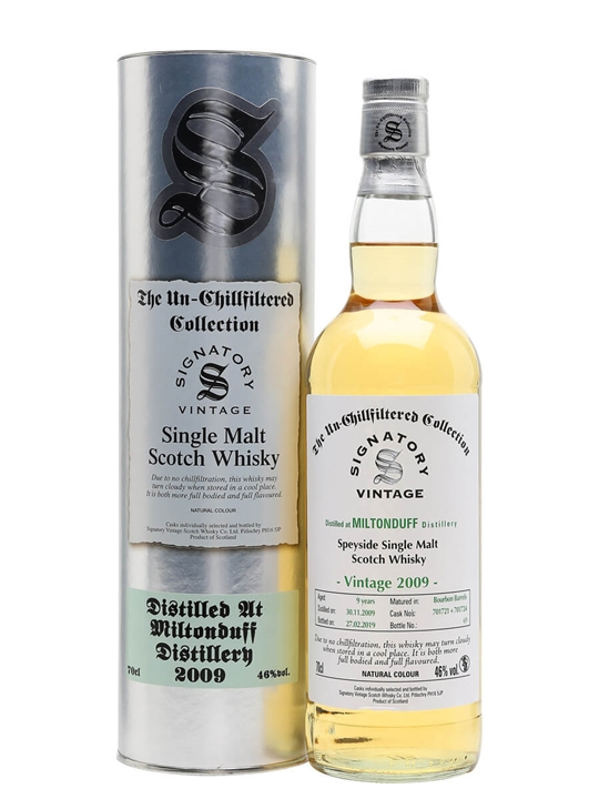 Miltonduff 2009 / 9 Year Old / Signatory Speyside Whisky