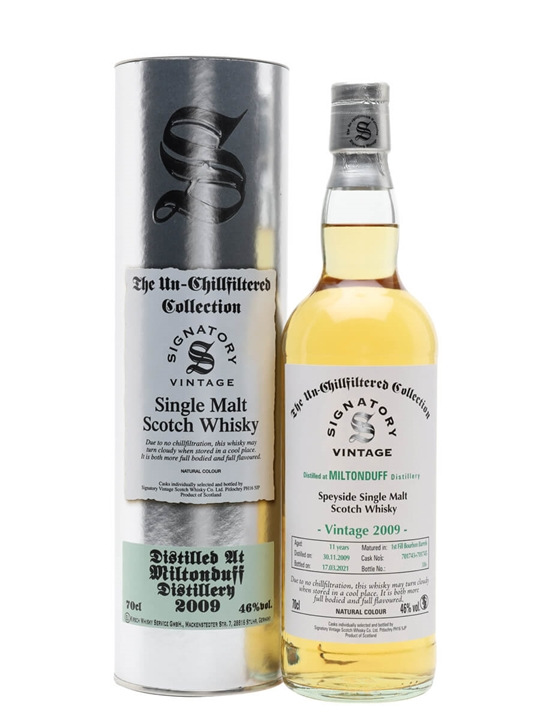 Miltonduff 2009 / 11 Year Old / Signatory Speyside Whisky