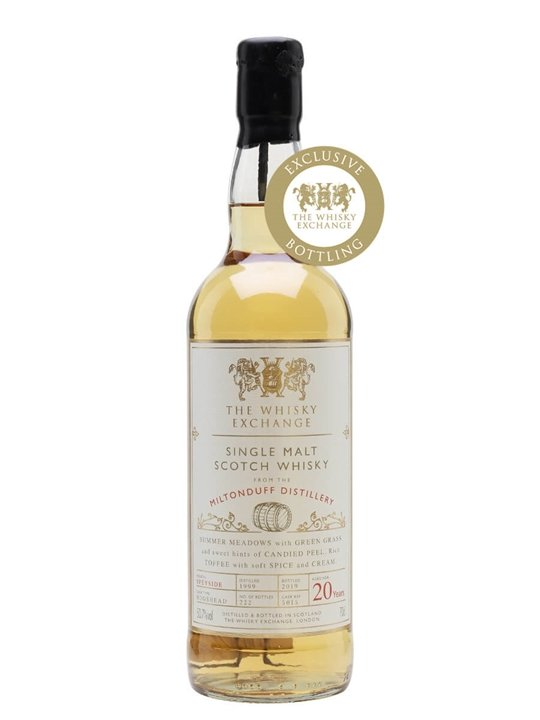 Miltonduff 1999 / 20 Year Old / The Whisky Exchange Speyside Whisky