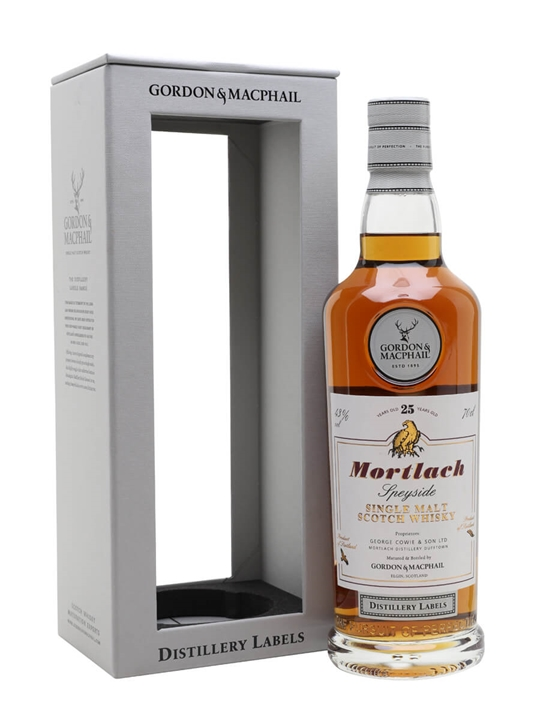 Mortlach 25 Year Old / G&m Distillery Labels Speyside Whisky