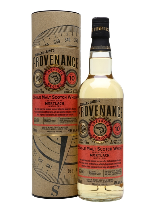 Mortlach 2006 / 10 Year Old / Provenance Speyside Whisky