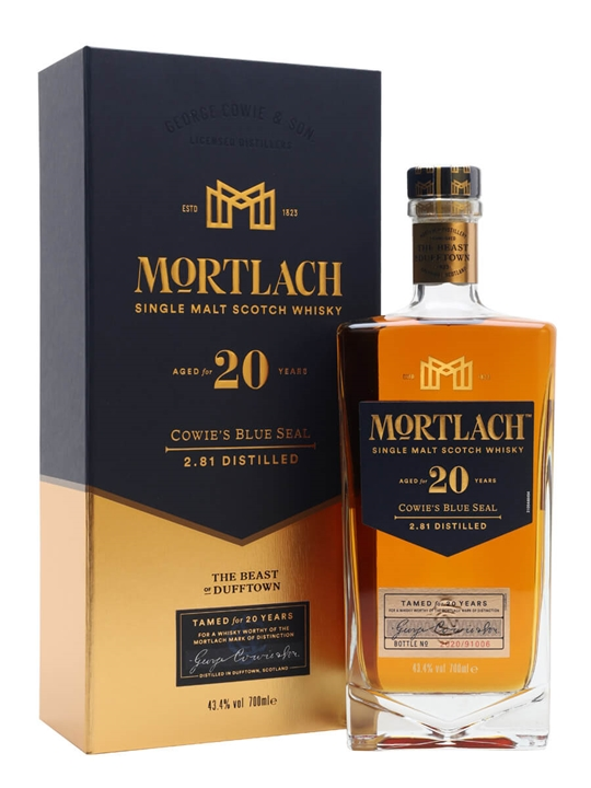Mortlach 20 Year Old / Cowie's Blue Seal Speyside Whisky