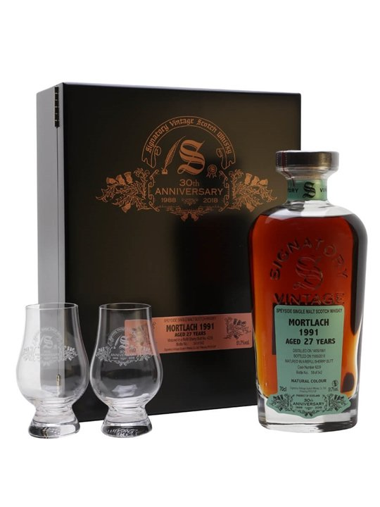Mortlach 1991 / 27 Year Old / Signatory 30th Anniversary Speyside Whisky