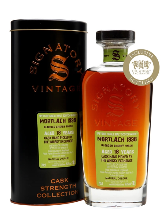 Mortlach 1998 / 18 Year Old / Signatory / TWE Exclusive Speyside Whisky