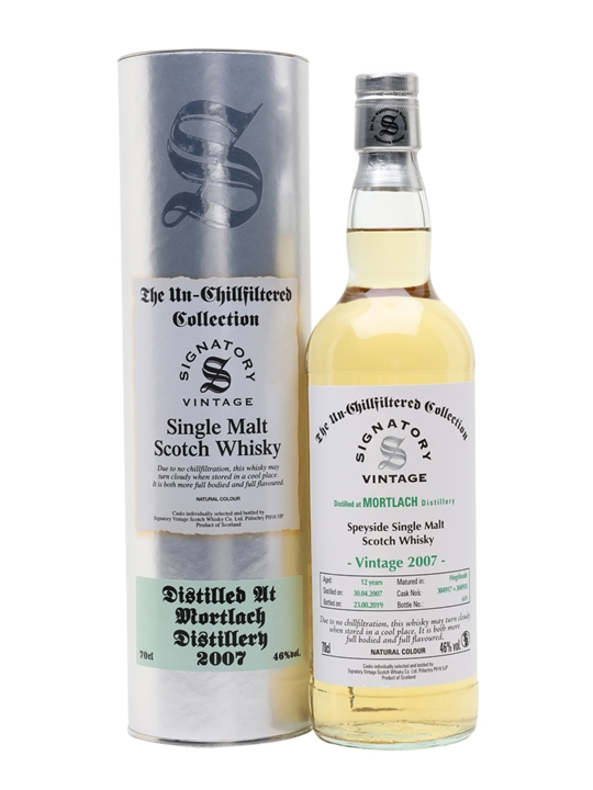 Mortlach 2007 / 12 Year Old / Signatory Speyside Whisky