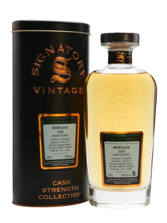 Mortlach 2008 / 8 Year Old / Signatory Speyside Whisky