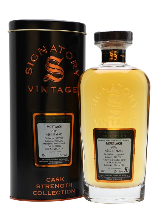 Mortlach 2008 / 11 Year Old / Signatory Speyside Whisky