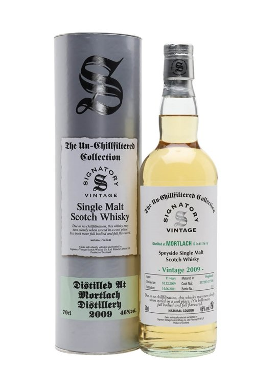 Mortlach 2009 / 11 Year Old / Signatory Speyside Whisky