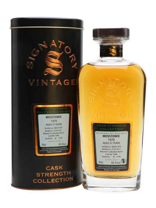 Mosstowie 1979 / 37 Year Old / Cask #5046/ Signatory Speyside Whisky