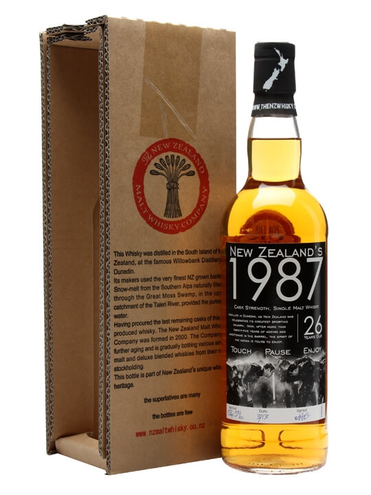 New Zealand's 1987 / 26 Year Old / Touch Pause Enjoy New Whisky
