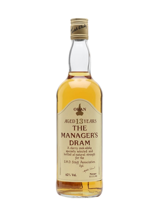 Oban 13 Year Old / Managers Dram / Sherry Cask Highland Whisky