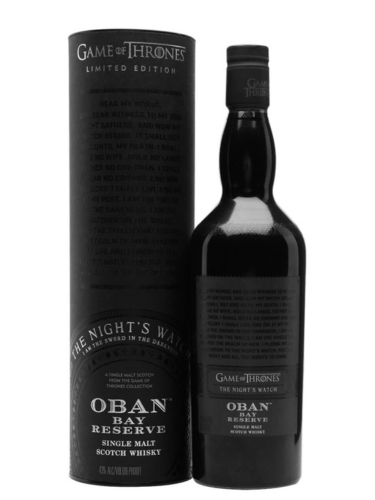 Oban Bay Reserve / Game of Thrones Nights Watch Highland Whisky