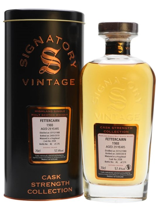 Fettercairn 1988 / 29 Year Old /signatory Highland Whisky