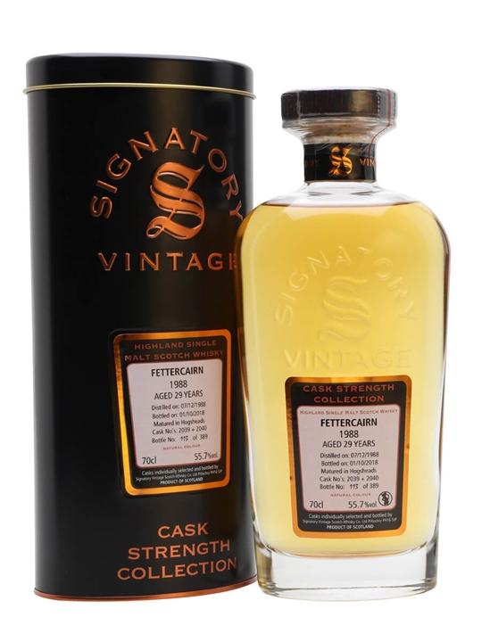 Fettercairn 1988 / 29 Year Old / Signatory Highland Whisky