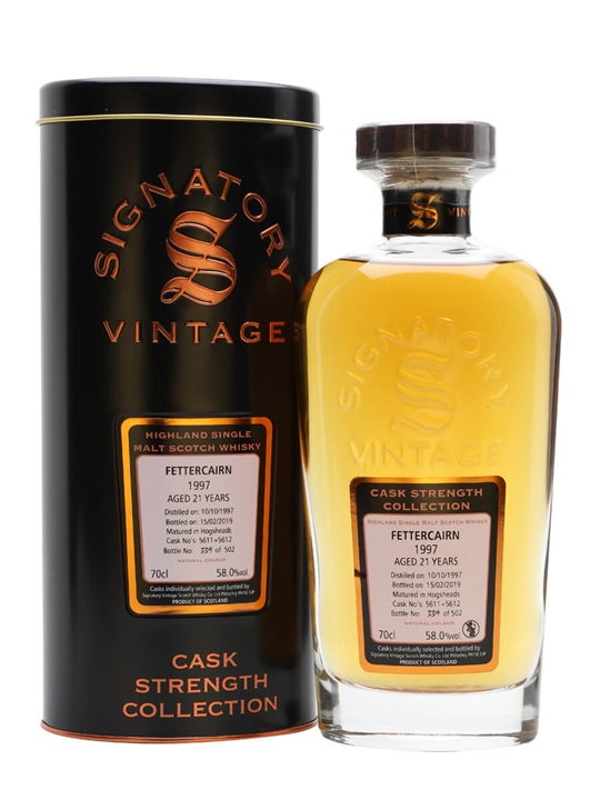 Fettercairn 1997 / 21 Year Old / Signatory Highland Whisky