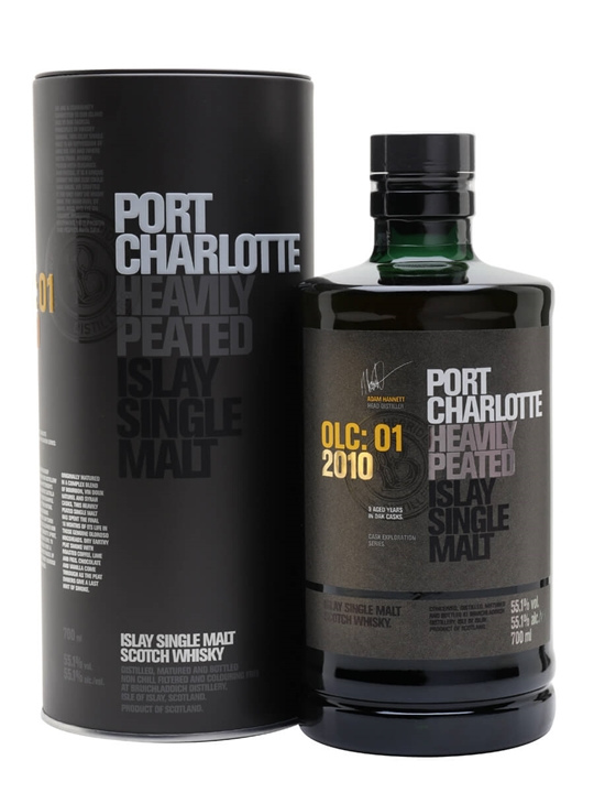 Port Charlotte 2010 OLC:01 Heavily Peated Islay Whisky