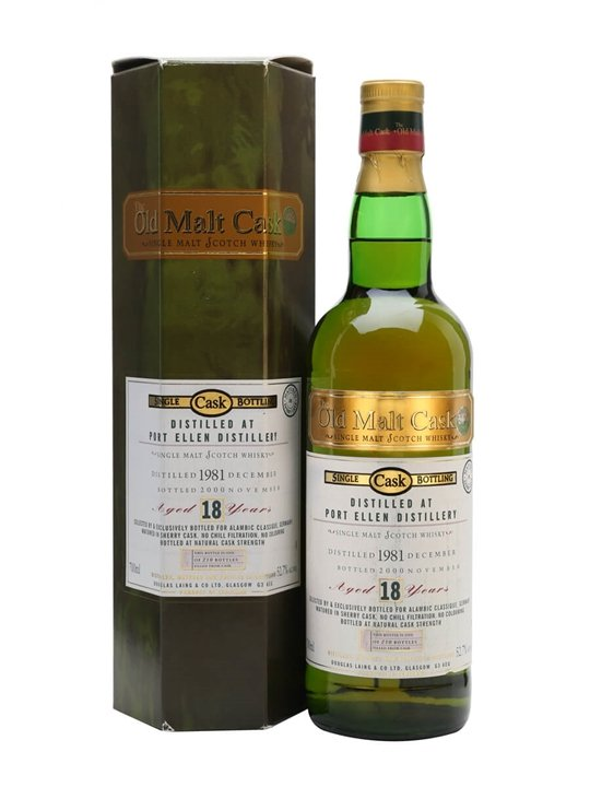 Port Ellen 1981 / 18 Year Old / Sherry Cask / Old Malt Cask Islay Whisky