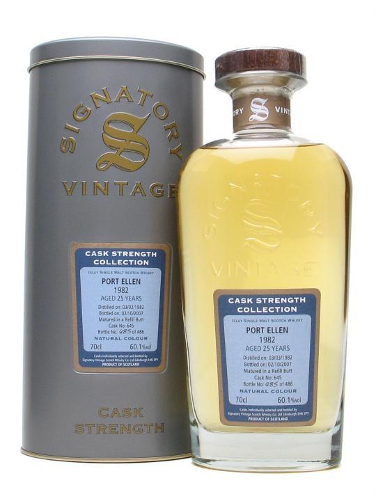 Port Ellen 1982 / 25 Year Old / Signatory Islay Whisky