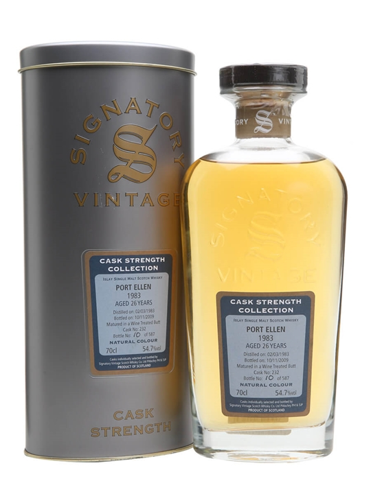 Port Ellen 1983 / 26 Year Old / Signatory Islay Whisky