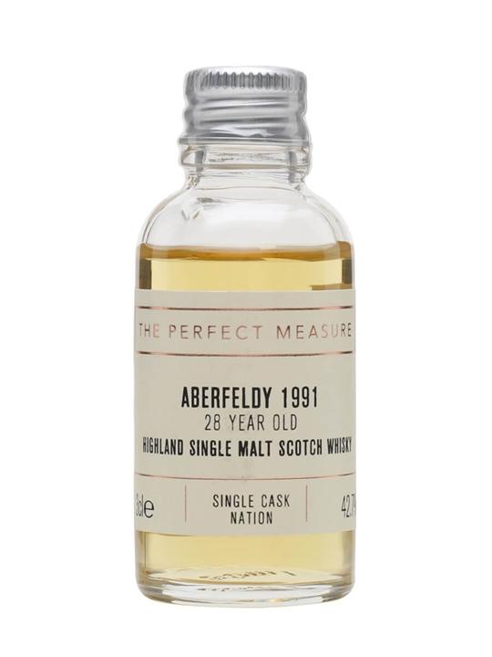 Aberfeldy 1991 Sample / 28 Year Old / Single Cask Nation Highland Whisky