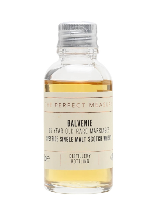 Balvenie 25 Year Old Rare Marriages Sample Speyside Whisky