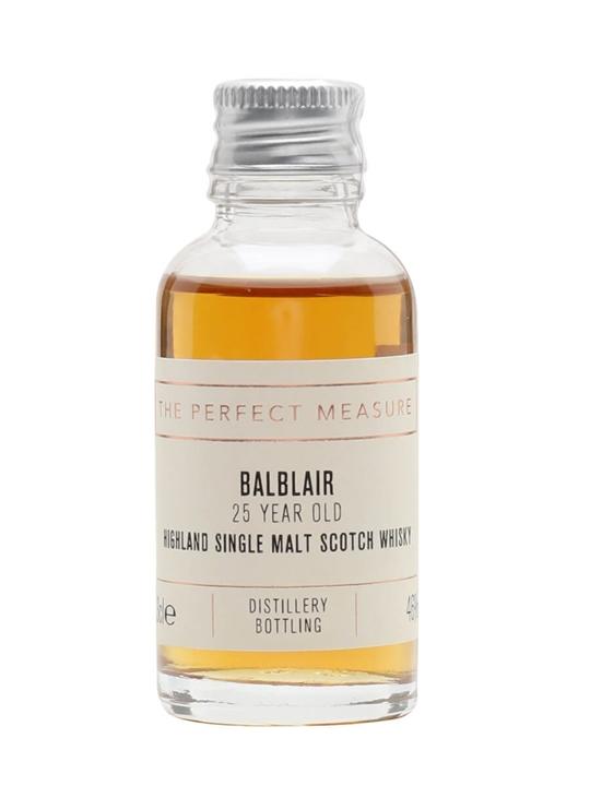 Balblair 25 Year Old Sample Highland Single Malt Scotch Whisky