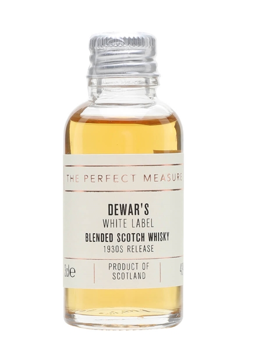 Dewar's White Label Sample / 1930s Release Blended Scotch Whisky