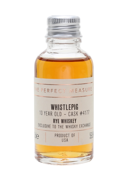 Whistlepig 10 Year Old Sample / Cask 4177 / Twe Exclusive