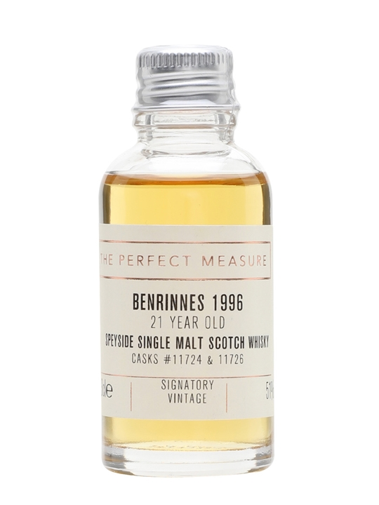 Benrinnes 1996 Sample / 21 Year Old / Signatory Speyside Whisky