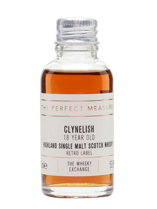 Clynelish 18 Year Old Sample / TWE Retro Label Highland Whisky