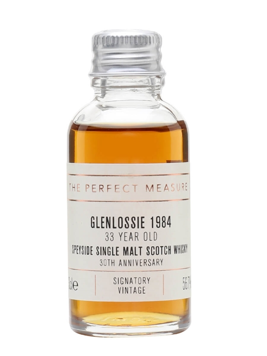 Glenlossie 1984 Sample / 33 Year Old / Signatory 30th Ann. Speyside Whisky