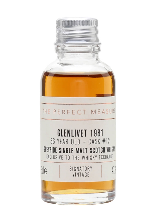 Glenlivet 1981 Sample / 36 Year Old / Twe Exclusive Speyside Whisky