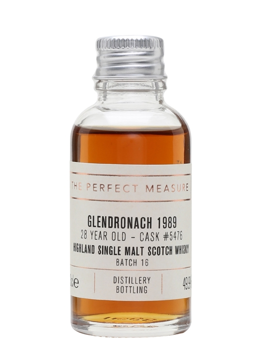 Glendronach 1989 Sample / 28 Year Old / Px Puncheon Highland Whisky