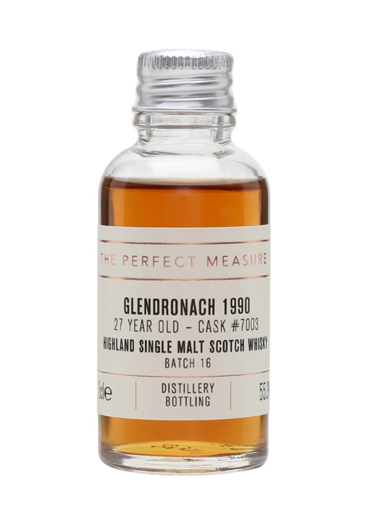 Glendronach 1990 Sample / 27 Year Old / Px Puncheon Highland Whisky
