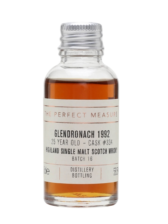 Glendronach 1992 Sample / 25 Year Old / Sherry Butt Highland Whisky